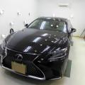 新型 LS500h セラミックトリプルコート、革シートコーティング、ガラスGP、アルミSV施工!
